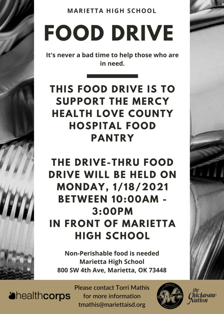 Marietta high school food drive.