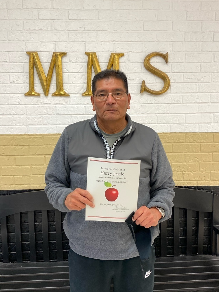 MS teacher of month