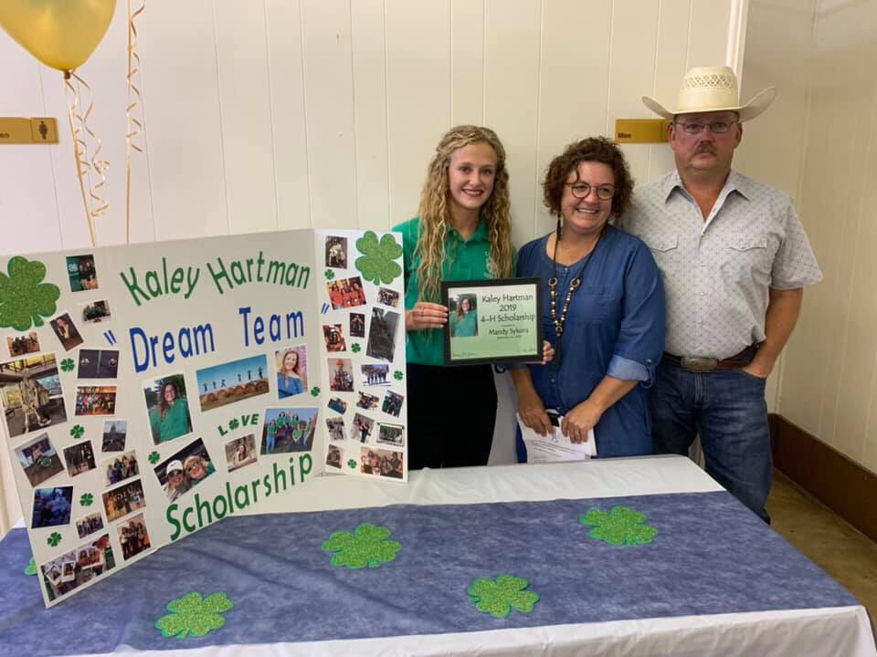 Mandy Sykora received the OHCE and Kaley Hartman scholarship at the 2019 4-H awards ceremony.