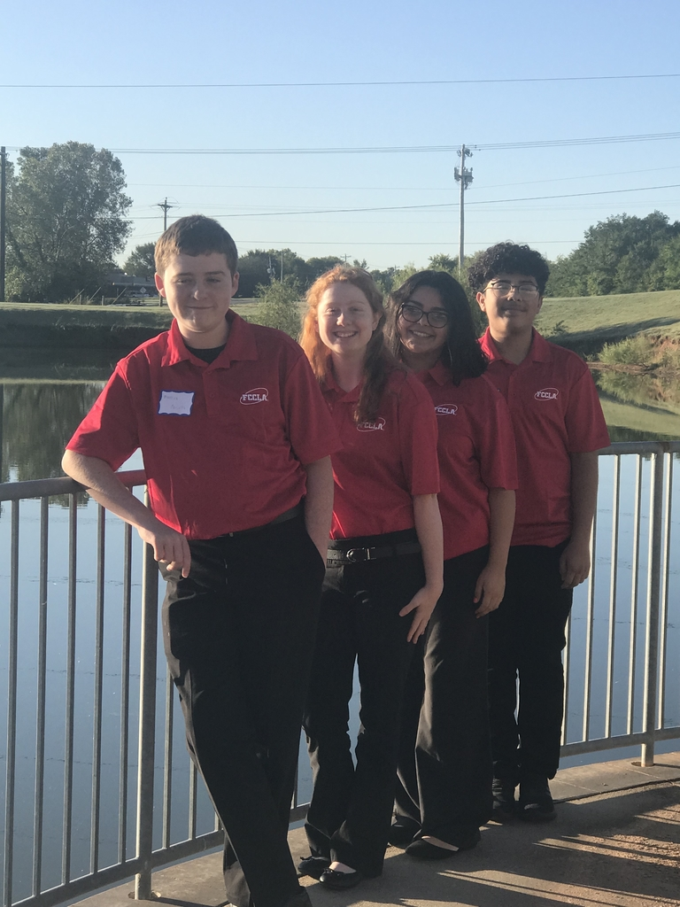 FCCLA students who attended the take AIM conference las week were Maverick Mansfield Lillian Blevins Abygail Barrientos and Alex Santibanez