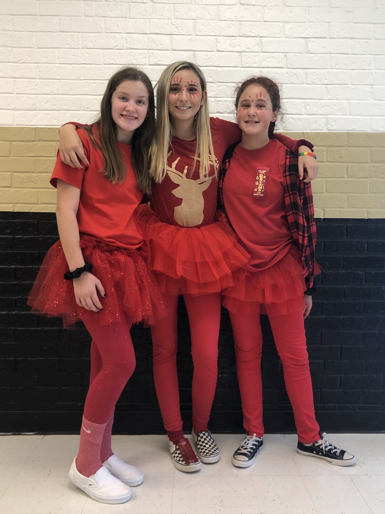 Middle School Red Ribbon Week.... Best Dressed Day 1, Olivia Rutledge, Riley Reinert and Jaylee Arthur