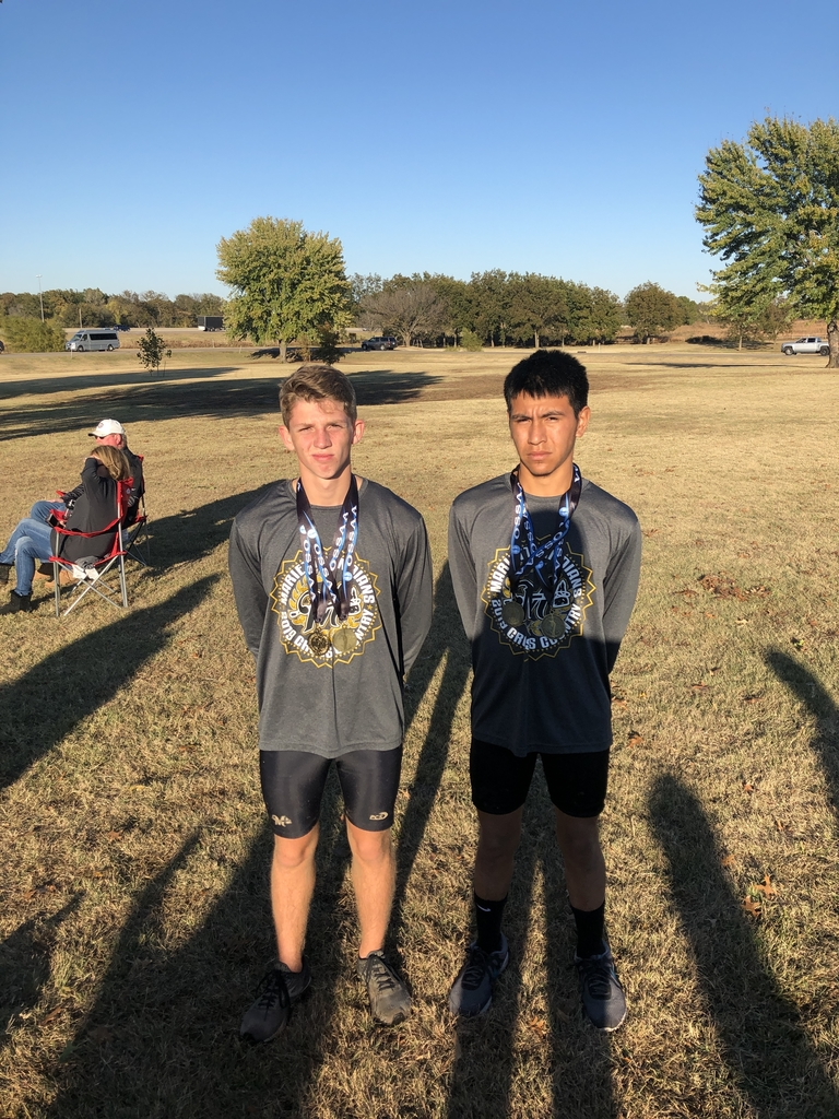 Wyatt Vinson place 5th and Danny Sanchez placed 14th at the state cross country meet in Shawnee