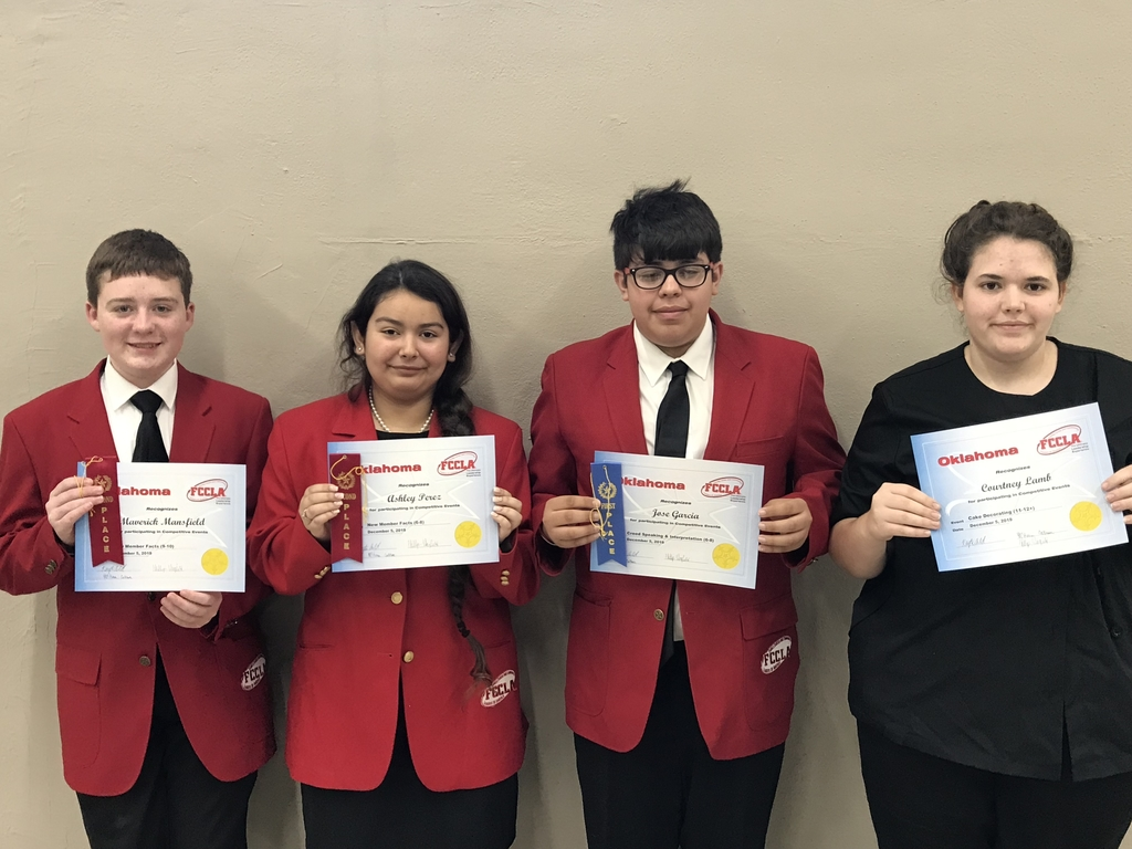 FCCLA district competitive events participants
