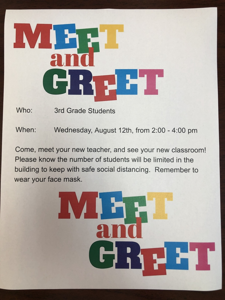 3rd grade Meet and Greet