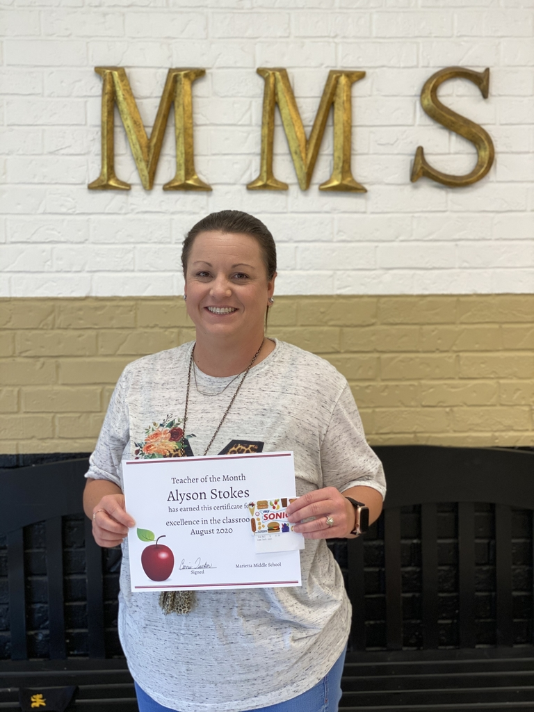 MMS August Teacher of the Month